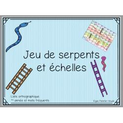 serpents et échelles liste orthographique