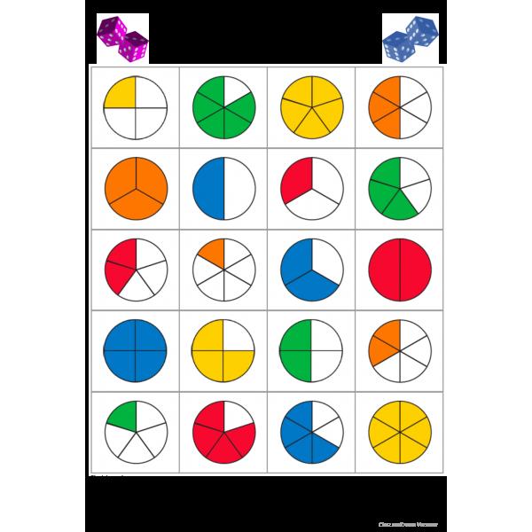 Les fractions : un jeu de dés