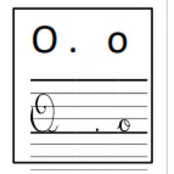 étiquettes des voyelles en quatre formes
