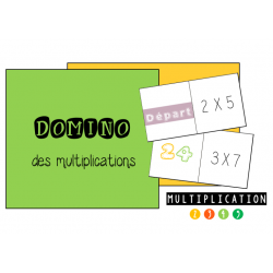 Domino de multiplications: table de 2 à 5