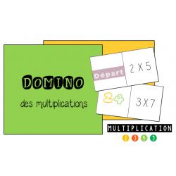 Domino de multiplications: table de 2 à 5