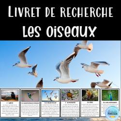 Livret de recherche animaux: Les oiseaux