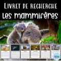 Livret de recherche animaux: Les mammifères
