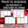 Projet de recherche: Le Canada
