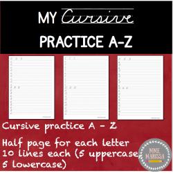 Mon cahier d'écriture cursive (lettres seulement)