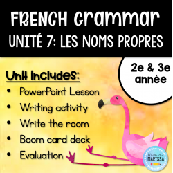 Unité de grammaire #7: Les noms propres