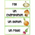 Les légumes: Mur de mots aquarelle