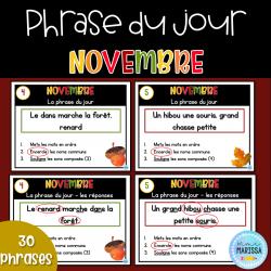 Phrase du jour: novembre