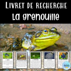 Livret de recherche animaux: la grenouille