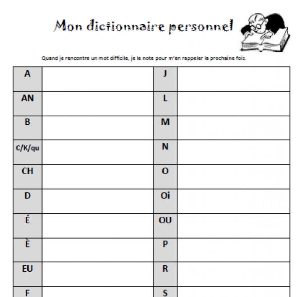 Dictionnaire personnel