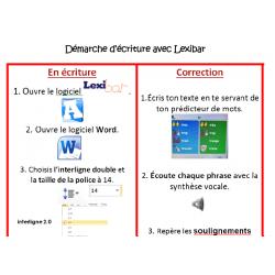 Lexibar - Démarche d'écriture et de correction