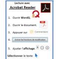 Acrobat Reader 2017_Procédure WordQ et Lexibar