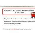Organisation des services d'orthopédagogie