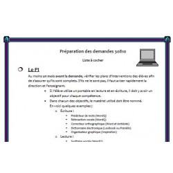 Préparation des demandes Mesure 30810