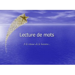 Lecture de mots flash
