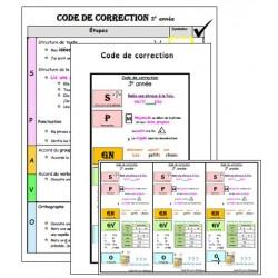 Code de correction selon PDA - 3e année