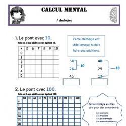 Calcul mental - 7 stratégies