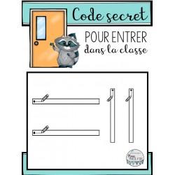 Code secret pour entrer dans la classe