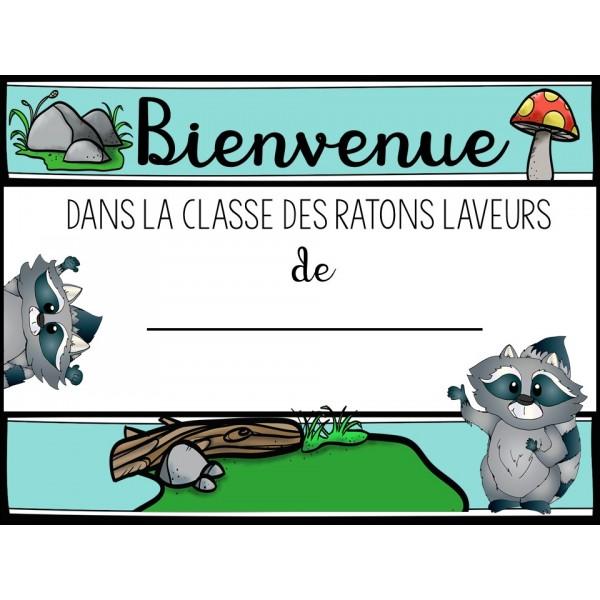 Affiche de classe et étiquettes variées