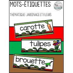 Mots-étiquettes: Thématique fleurs et jardinage