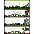 Atelier: Je trace des mots (Fleurs et jardinage)