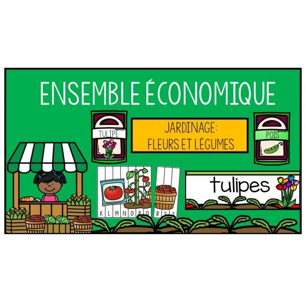 Ensemble économique: Jardinage fleurs et légumes