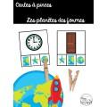 Cartes à pinces: Les planètes des formes
