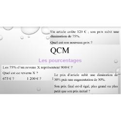 QCM-Pourcentages