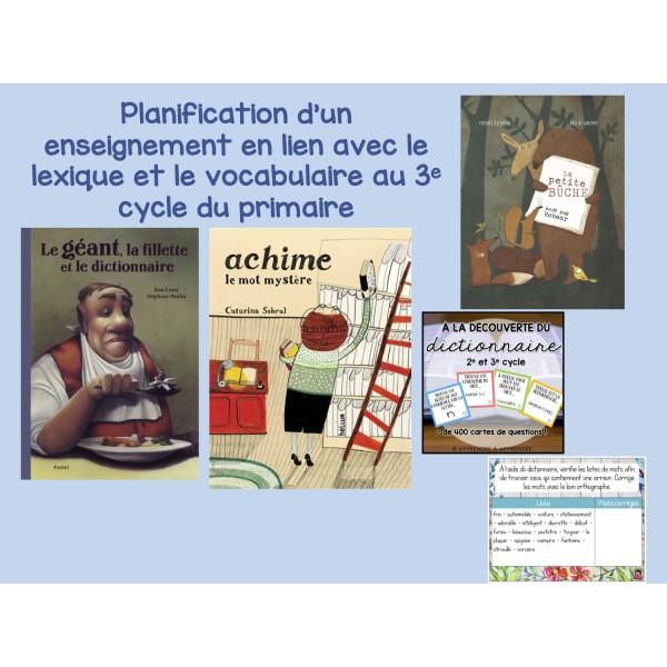 Planification enseignement outils référence