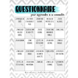 Questionnaire pour apprendre à se connaître