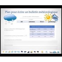 Plan pour écrire un bulletin météorologique