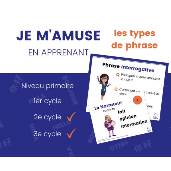 Types de phrases - 17 affiches