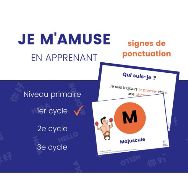 Signes de ponctuation - 1er cycle 8 affiches