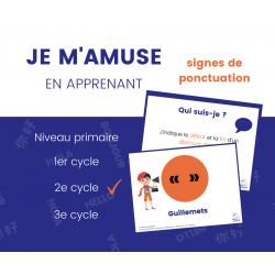 Signes de ponctuation - 2e cycle 14 affiches