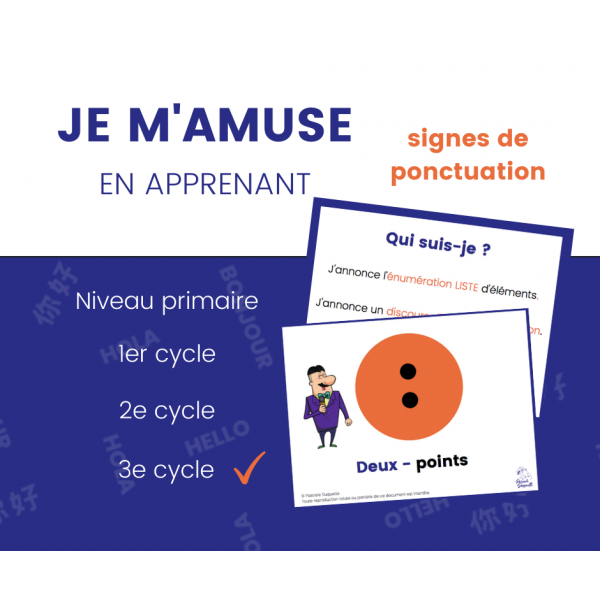 Signes de Ponctuation - Affiches 3e cycle