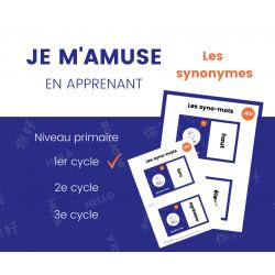 JEU des synonymes - 1er cycle 48 cartes mémoire