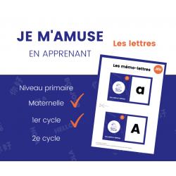 JEU des lettres - Maternelle 1re année
