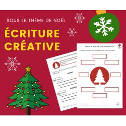 Cahier d'écriture - Écriture créative de Noël