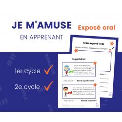 Exposé oral - Superhéros 1er et 2e cycle