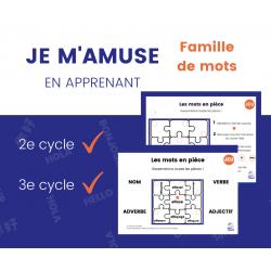 JEU d'association - Famille de mots