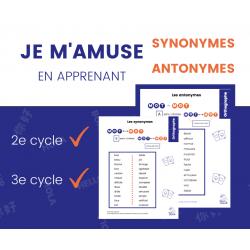 Aide-Mémoire Synonymes Antonymes 2e-3e cycle