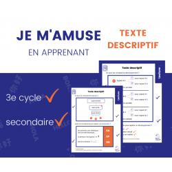 Texte Descriptif Structure Aide-Mémoire