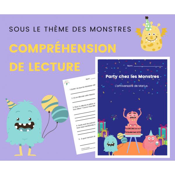 Compréhension de Lecture MONSTRES - Texte Narratif