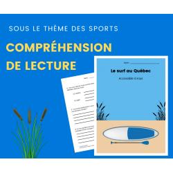 Compréhension de Lecture SPORTS - Texte Descriptif