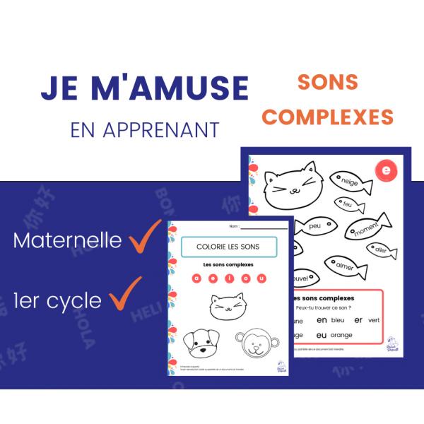 Sons Complexes - Colorie les Sons Cahier