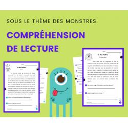 Compréhension de Lecture MONSTRES Texte Descriptif