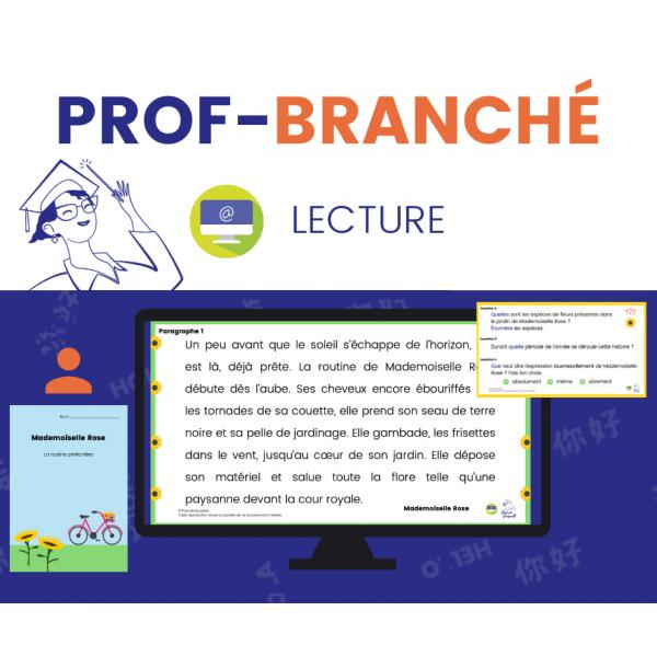 Compréhension de Lecture À DISTANCE - PRINTEMPS 2