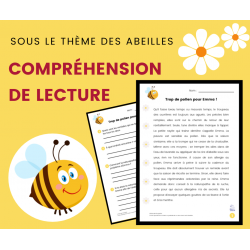 Compréhension de Lecture ABEILLES - Récit