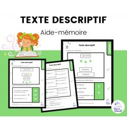 Aide-Mémoire Texte Descriptif