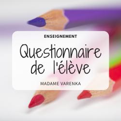 Questionnaire intérêts des élèves